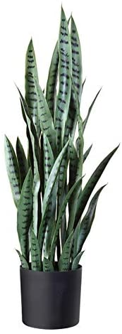 """Fopamtri Artificial Snake Plant 38"""" Fake Sansevieria, Perfect Faux Plants for Home Garden Office Store Decoration, 32 Leaves"""