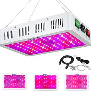 Exlenvce 1000W LED Grow Light Full Spectrum for Indoor Plants Veg and Flower,led Plant Growing Light Fixtures with Daisy Chain Function