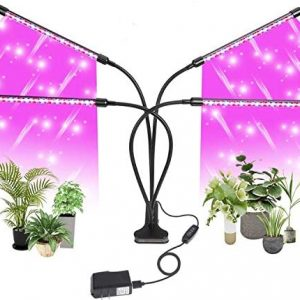 Mudikic Grow Lights for Indoor Plants, Full Spectrum Plant Grow Light, 40W 80 Led Grow Light with 10 Dimmable Levels, 3 9 12h Timer, 3 Switch Modes (Size 1)