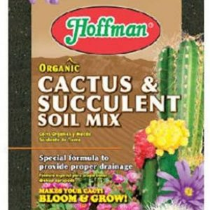 Hoffman 10404 Organic Cactus and Succulent Soil Mix, 4 Quarts, Brown/A