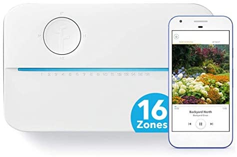 Rachio 3 Smart Sprinkler Controller, 16 Zone 3rd Generation, Alexa and Apple HomeKit Compatible with Hyperlocal Weather Intelligence Plus and Rain, Freeze and Wind Skip