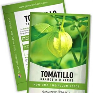 Tomatillo Grande Rio Verde Seeds for Planting Heirloom Non-GMO Seeds for Home Garden Vegetables Makes a Great Gift for Gardening by Gardeners Basics