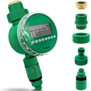 DINKY Water Timer, Watering Hose Timer, Single Outlet Hose Faucet Timer Programmable Sprinkler Timer Digital Water Timer with Waterproof Cover- Automatic Irrigation for Garden Lawn Drip Irrigation