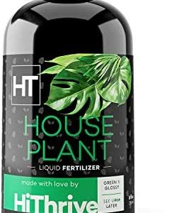 Houseplant Fertilizer - Liquid All Purpose Indoor Plant Food - Keeps Plants Healthy with Easy to Understand Instructions - for Indoor + Outdoor Use (8oz)