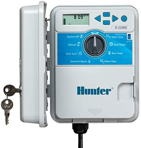 Hunter Sprinkler XC600 X-Core 6-Station Outdoor Irrigation Controller, Small, Gray
