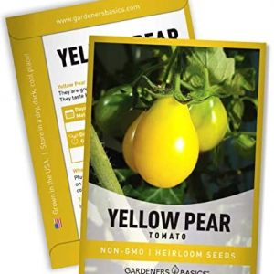 Yellow Pear Tomato Seeds for Planting Heirloom Non-GMO Seeds for Home Garden Vegetables Makes a Great Gift for Gardening by Gardeners Basics