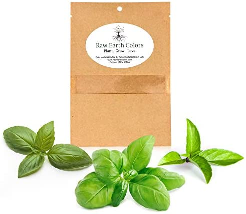 Basil Seeds to Plant Thai Basil - Large Leaf Genovese Basil - Italion Basil - Herb Seeds Variety Pack for Planting Outdoor or Indoors!