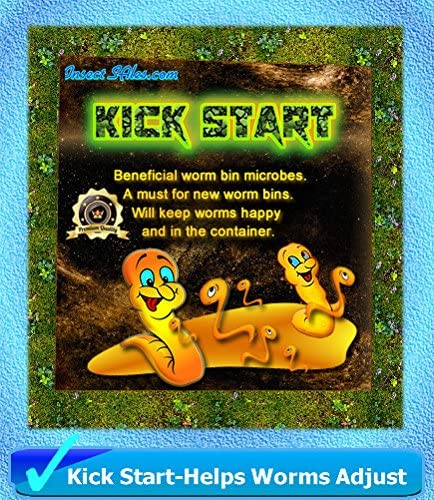 Insectsales.com Worm Composting (Kick Start) - (2 Lbs) of Beneficial Microbes 100% Organic