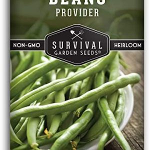 Survival Garden Seeds - Provider Bean Seed for Planting - Packet with Instructions to Plant and Grow in Your Home Vegetable Garden - Non-GMO Heirloom Variety