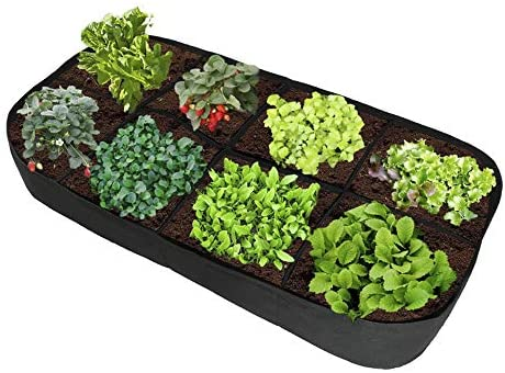 """APEEDV Fabric Raised Planting Container Garden Grow Bag Breathable,Fabric Raised Garden Bed for Plants, Flowers, Vegetables (71"""" x 35"""" x 12"""")"""
