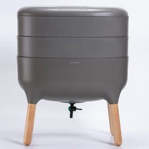 Award-Winning, Stylish Urbalive Worm Farm Compost Bin. Available in Gray, Ivory, and Lime Green. Start Your Vermicomposting Journey Today!