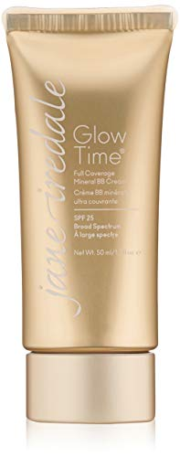 jane iredale Glow Time Full Coverage Mineral BB Cream | Foundation & Concealer with SPF for Normal Skin | Non-Comedogenic | Vegan & Cruelty-Free