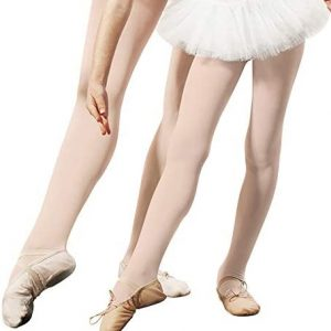 Move Dance Girls Dance Tights Kids Highly Elastic Ballet Footed Tight Ultra Soft Pro Footed Dance Sockings for 3-12 Years