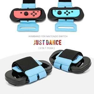 Wrist Band for Just Dance 2020 - Nintendo Switch Standard Edition - 2 Packs (Fit for 4.72 - 7.5 inches wrist circumference)