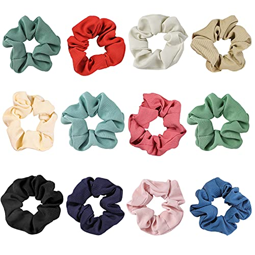 12 Pcs Large Size Hair Scrunchies,Premium Scrunchies for Women or Girls, Hair Accessories,Great Gift for Holiday Seasons