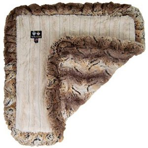 BESSIE AND BARNIE Natural Beauty/Simba Luxury Ultra Plush Faux Fur Pet, Dog, Cat, Puppy Super Soft Reversible Blanket (Multiple Sizes)