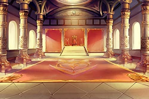 Baocicco 10x8ft Luxury Palaces Photo Backdrop Ancient Royal Throne Golden Hall Carpet Marble Pillar Photography Background Wedding Birthday Kids Costume Party Princess Prince King Queen Portrait