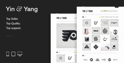 Yin & Yang: Clean & Interactive WordPress Portfolio Theme