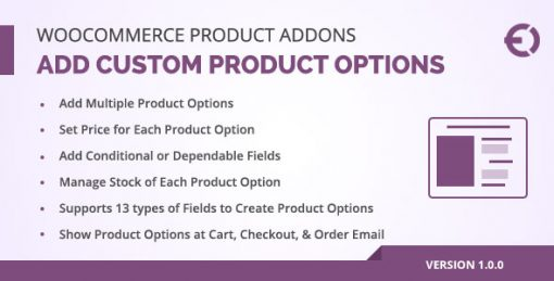 WooCommerce Product Add-Ons : Extra Product Options Plugin