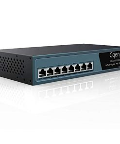 Cqenpr 8 Port Full Gigabit Poe Switch, Unmanaged Desktop/Rackmount PoE, Plug and Play, 120w 802.3af/at, Metal Fanless, No Noise, Lifetime-Tech Support