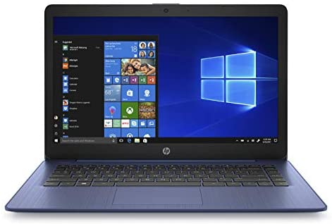HP Stream 14-inch Laptop, Intel Celeron N4000, 4 GB RAM, 64 GB eMMC, Windows 10 Home in S Mode with Office 365 Personal for 1 Year (14-cb185nr, Royal Blue)