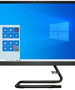 "Lenovo IdeaCentre AIO 3, 24"" All-in-One Computer, AMD Ryzen 3 4300U Mobile Processor, Integrated Graphics, 8GB DDR4, 256GB M.2 Name SSD, DVD RW Drive, Windows 10, F0EW005TUS, Business Black"