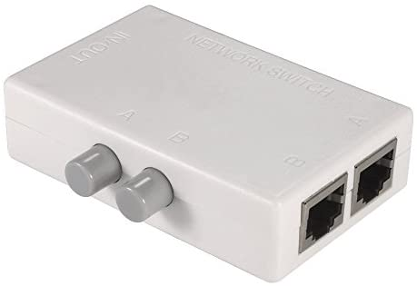 MT-VIKI 2 Ports Network Switch Splitter Selector Hub 2-in 1-Out or 1-in 2-Out 100M MT-RJ45-2M