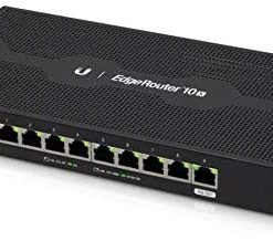 Ubiquiti Networks EdgeRouter 10X, 10-Port High-Performance Gigabit Router with PoE Flexibility (ER-10X)