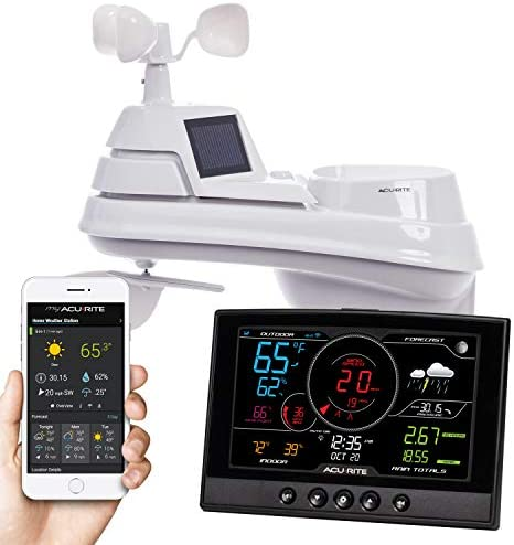 AcuRite Iris Weather Station with Wireless Wi-Fi Connection for Home (01544), Black