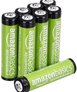 Amazon Basics 8-Pack AAA Rechargeable Batteries, 800 mAh, Pre-charged
