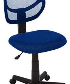 AmazonBasics Low-Back Computer Task Office Desk Chair with Swivel Casters - Blue
