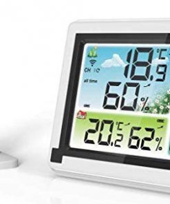 Eagletech Digital Weather Station Wireless Indoor Outdoor Hygrometer Thermometer Weather Forecast with Remote Transmitter