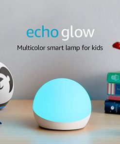 Echo Glow - Multicolor smart lamp for kids, a Certified for Humans Device – Requires compatible Alexa device
