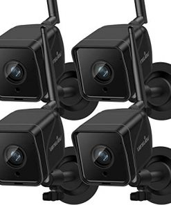 Security Camera Outdoor, Wansview 1080P Wired WiFi IP66 Waterproof Surveillance Home Camera with Motion Detection,2-Way Audio, ONVIF and RTSP Protocol and Compatible with Alexa W6-4PACK (Black)
