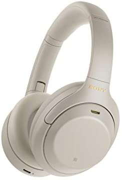 Sony WH-1000XM4 Wireless Industry Leading Noise Canceling Overhead Headphones with Mic for Phone-Call and Alexa Voice Control, Silver