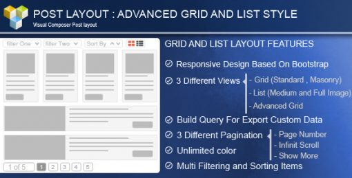 Advance Post Grid/List with custom filtering for Visual Composer