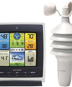 AcuRite Notos (3-in1) 00589 Pro Color Weather Station with Wind Speed, Temperature and Humidity,Full Color