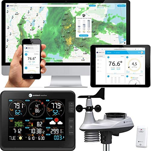 Ambient Weather Falcon WS-8480 Fan Aspirated Smart WiFi Weather Station with Remote Monitoring and Alerts