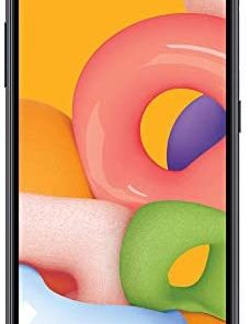 (Free $20 Airtime Activation Promotion) TracFone Samsung Galaxy A01 4G LTE Prepaid Smartphone - Black - 16GB - Sim Card Included -CDMA