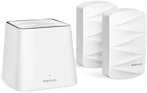 Meshforce M3 Mesh WiFi System, 4,500 sq.ft Whole Home Coverage, Mesh Router for Wireless Internet, WiFi Router Replacement, Parental Control, Plug-in Design (1 WiFi Point & 2 Dots)