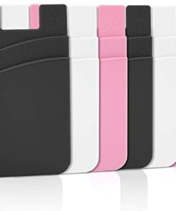 Phone Wallet Stick On, Senose Phone Card Holder Back of Phone Sleeve Pocket Phone Pouch Strong Adhesive Compatible with iPhone, Samsung, Most Android Smart Phones Pack of 6