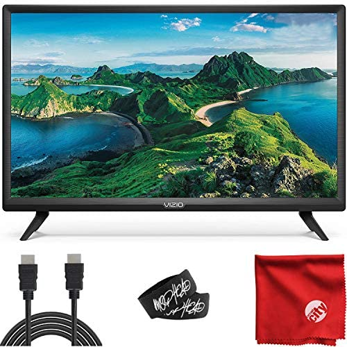 VIZIO D-Series 24-Inch Class 720p HD LED Smart TV (D24H-G9) with Built-in HDMI, USB, SmartCast, Voice Control Bundle with Circuit City 6-Feet High Definition HDMI Cable and Accessories