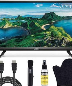 VIZIO D-Series 32-Inch Class 1080p Full HD LED Smart TV (D32F-G1/D32F-G4) with Built-in HDMI, USB, SmartCast, Voice Control Bundle with Circuit City 6-Feet 4K HDMI Cable and LCD Screen Cleaning Kit