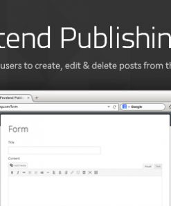 Frontend Publishing Pro - WordPress Post Submission Plugin