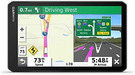 Garmin dezl OTR700, 7-inch GPS Truck Navigator, Easy-to-Read Touchscreen Display, Custom Truck Routing and Load-to-Dock Guidance, 7 Inch (Renewed)