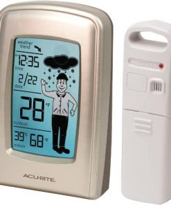 AcuRite 00827 What-to-Wear Wireless Weather Forecaster white, 0.5