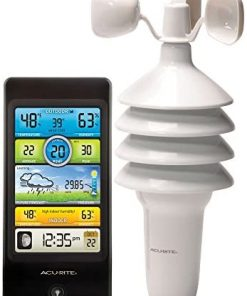 AcuRite Notos (3-in-1) 01604M Pro Color Digital Weather Station with Wind Speed, Temperature and Humidity