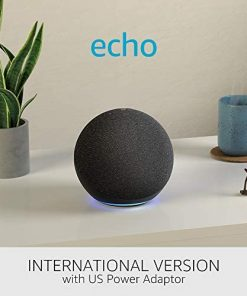 All-new Echo (4th generation) International Version | With premium sound, smart home hub and Alexa | Charcoal