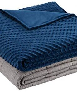 Amazon Basics Weighted Blanket with Minky Duvet Cover - 15lb, 60x80