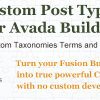 Custom Post Types, Taxonomies and Fields for Avada Builder